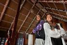 Te Wharekura o Ngati Rongomai graduate students Te Kaiamo Rogers Smith (left) and Rangitiaria Rika. Photo / Ben Fraser