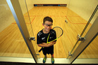 Tauranga's Oceania Junior Under-13 squash champion Joe Smythe. Photo / John Borren