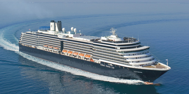 The ms Noordam Holland America cruise ship.