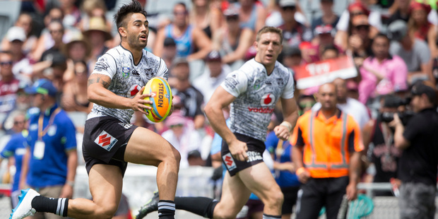 Shaun Johnson in action. Photo / Greg Bowker