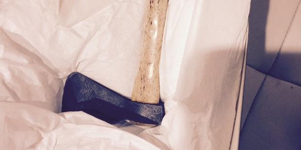 An axe loaned by the hapu Te Matarahurahu of Ngapuhi to the new museum at Waitangi. Photo / David Rankin