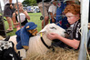 Benjamin Wallis, 11, making friends at the Katikati A&P Show. Photo / George Novak