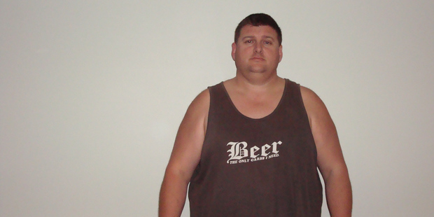 Stephen Houghton before the weight loss that turned his life around. Photo / Sovereign Tri Series