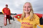 Teenage lifeguards Logan Russell, 15, and Kayla Baker, 15, saved three children in separate rescues. Photo/George Novak
