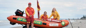 Teenage lifeguards saved life on Pukehina Beach. L-R Logan Russell, 15, Leanne Lester and Kayla Baker,15. Photo/Goerge Novak