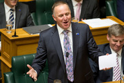 Prime Minister John Key during his statement to the House, Parliament, Wellington. 09 February 2016. NZ Herald Photograph by Mark Mitchell