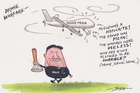 Cartoon: Aussie media drones on and on