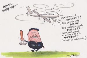 Cartoon: Aussie media drones on and on