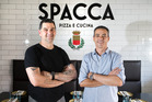 Head chef, Gaetano Spinosa and owner Gino Buonocore at new Italian restaurant, Spacca. Photo / Nick Reed