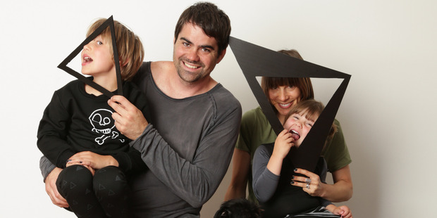 Little Flock of Horrors founders Fran Frost and Lucy Wildman with their children Iggy, left, and Frankie. Photo / Supplied
