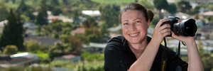 House hunters are following realty photographer Deanna Onan around. Photo / Ben Fraser