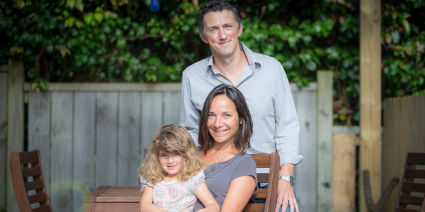 Professor Dimitri Leemans, Francoise Duperoux and Margaux, 5, plan to leave New Zealand because 13-year-old Peter had his residency declined. Photo / Michael Craig