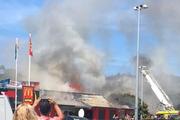 Fire at the McDonald's restaurant in Silverstream near Wellington. Photo / Twitter / Nicole Lemon