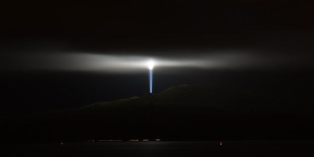 Thanks to the iwi of Tamaki Collective and Ateed for the beacon of light atop Rangitoto. Photo / Supplied