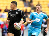 Sonny Bill Williams of New Zealand breaks away for a try during the 2016 Wellington Sevens pool match between New Zealand and Russia. Photo / Getty Images