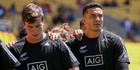 Sam Dickson and Sonny Bill Williams of New Zealand. Photo / Getty Images.