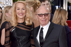 Former supermodel Jerry Hall and her fiance, Rupert Murdoch. Photo / AP
