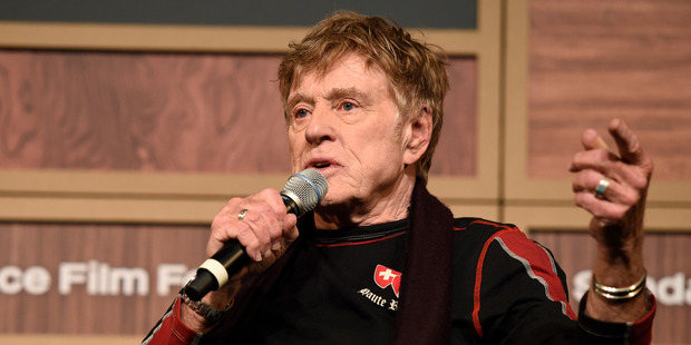 Robert Redford, founder and president of the Sundance Institute. Photo / AP