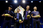 Coldplay will follow some of music's biggest acts today when they perform on the world's biggest stage - the Super Bowl half-time show. Photo / AP
