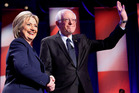 Democratic presidential candidates Hillary Clinton and Sen. Bernie Sanders. Photo / AP