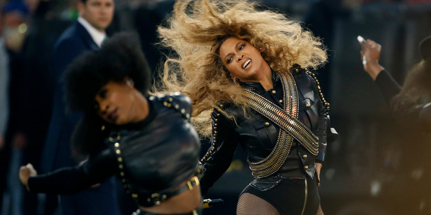 Beyonce performed new hit Formation during halftime of the NFL Super Bowl today, and stole the show from headliners Coldplay.