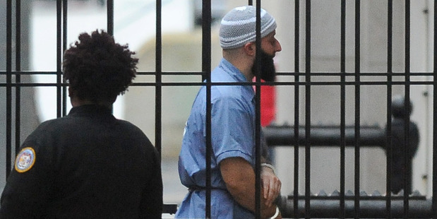 Adnan Syed enters Courthouse East in Baltimore prior to a hearing in Baltimore. Photo / AP