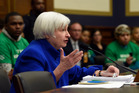 Federal Reserve Board Chair Janet Yellen testifies on Capitol Hill in Washington overnight. Photo / AP