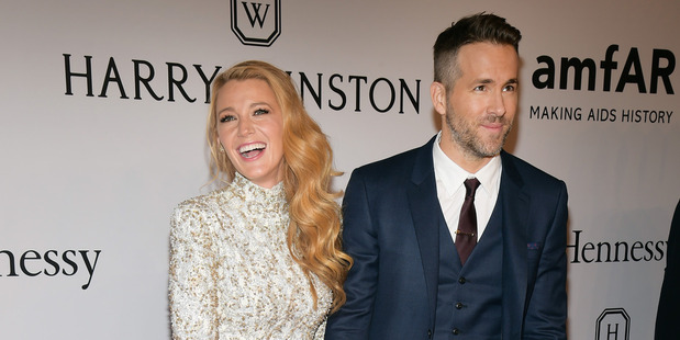Blake Lively and Ryan Reynolds. Photo / AP