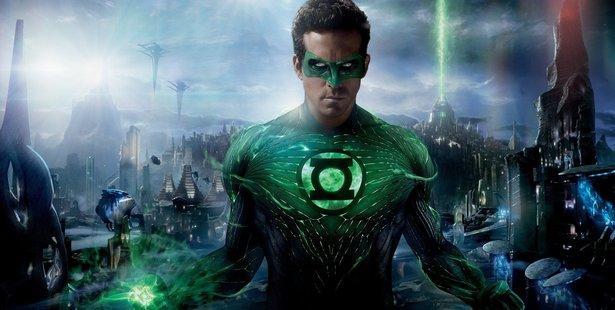 Ryan Reynolds in the film the Green Lantern.