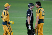 Scott Styris and Mitchell Johnson faced off during an ODI in 2010. Photo / Mark Mitchell