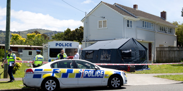 the Lower Hutt property raided by police after Matthew's body was found. Photo / Mark Mitchell