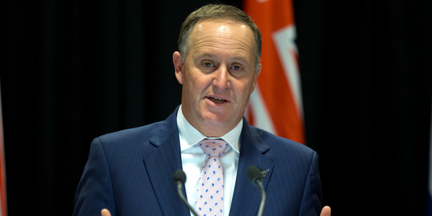 John Key chose to spend Waitangi Day in Auckland this year. Photo / Mark Mitchell