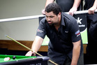 Eight-ball Tournament at the Wanganui RSA: Final between Matt McIness from Tokoroa and local Nick Hinga (pictured). 08 February 2015 Wanganui Chronicle photograph by Bevan Conley. WGP 12Feb16