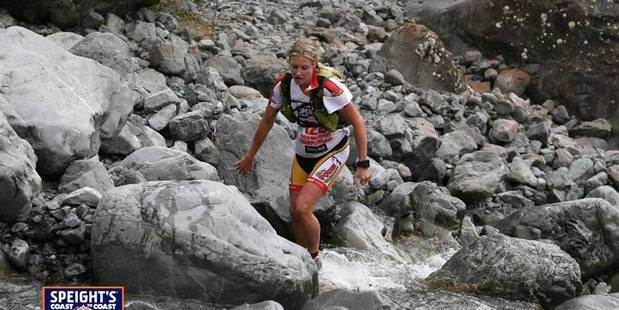 Jess Simson running Speight's Coast to Coast multi-sport race.