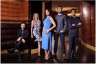 The cast of new television series Filthy Rich starring Rotorua-born actor Miriama Smith.