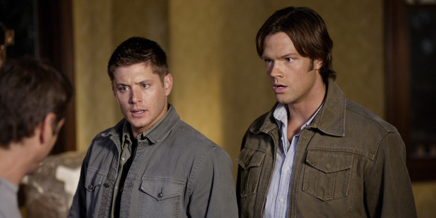 Jensen Ackles as Dean Winchester and Jared Padalecki as Sam Winchester in Supernatural.