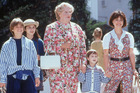 A scene from the movie Mrs Doubtfire starring Robin Williams.
