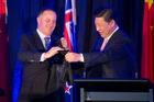 Xi Jinping with John Key during his 2014 visit. Photo / Mark Mitchell