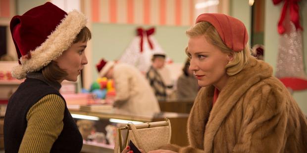 Rooney Mara and Kate Blanchett in the Todd Haynes movie Carol.