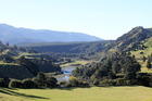 The site of the proposed Ruataniwha Dam, at the upper end of Makaroro River.