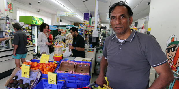 Paihia Four Square owner Bob Patel faced an agitated man who  took a hostage in his Williams Rd shop in December, 2014.
