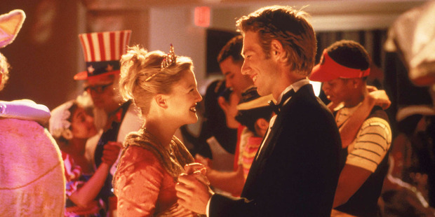 Drew Barrymore stars in the movie, Never Been Kissed.