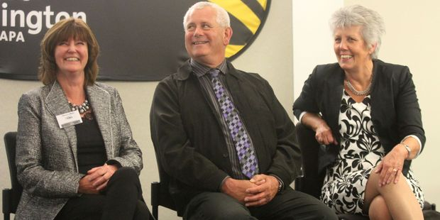 South Wairarapa Mayor Adrienne Staples (left), Carterton Mayor John Booth, and Masterton Mayor Lyn Patterson are aiming to build stronger local government.