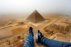 People have been scrambling up the sides of the pyramids for centuries - but most of them didn't have iPhone 6s and Twitter accounts. Photo / Andrej Ciesielski / Caters News