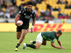 Akira Ioane was outstanding at last weekend's Wellington Sevens but juggling both forms of the game will not be easy. Photo / Getty Images