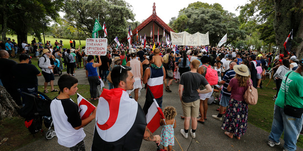 Calls have been made to move the annual pre-Waitangi Day powhiri for Crown officials away from Te Tii Marae  to the upper marae. Photo / John Stone