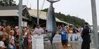 Craig Johnson and Kurt Bennetto caught this huge black marlin.