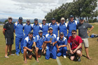 VICTORIOUS: The Whanganui St Johns Tech lads celebrate a convincing nine-wicket win over Levin Old Boys in the inaugural Coastal Challenge Cup inter-district cricket final.