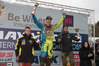 Ben Townley (left) on the podium at the Hawkstone International with winner Shaun Simpson and runner-up Clement DeSalle. Photo / Ray Archer