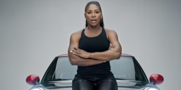 Serena Williams heads a superstar line up promoting Mini in one of this year's Super Bowl commercials.